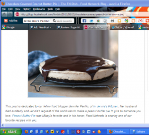 Food Network Peanut Butter Pie For Mikey