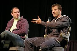 Trey Parker (left) and Matt Stone (right)