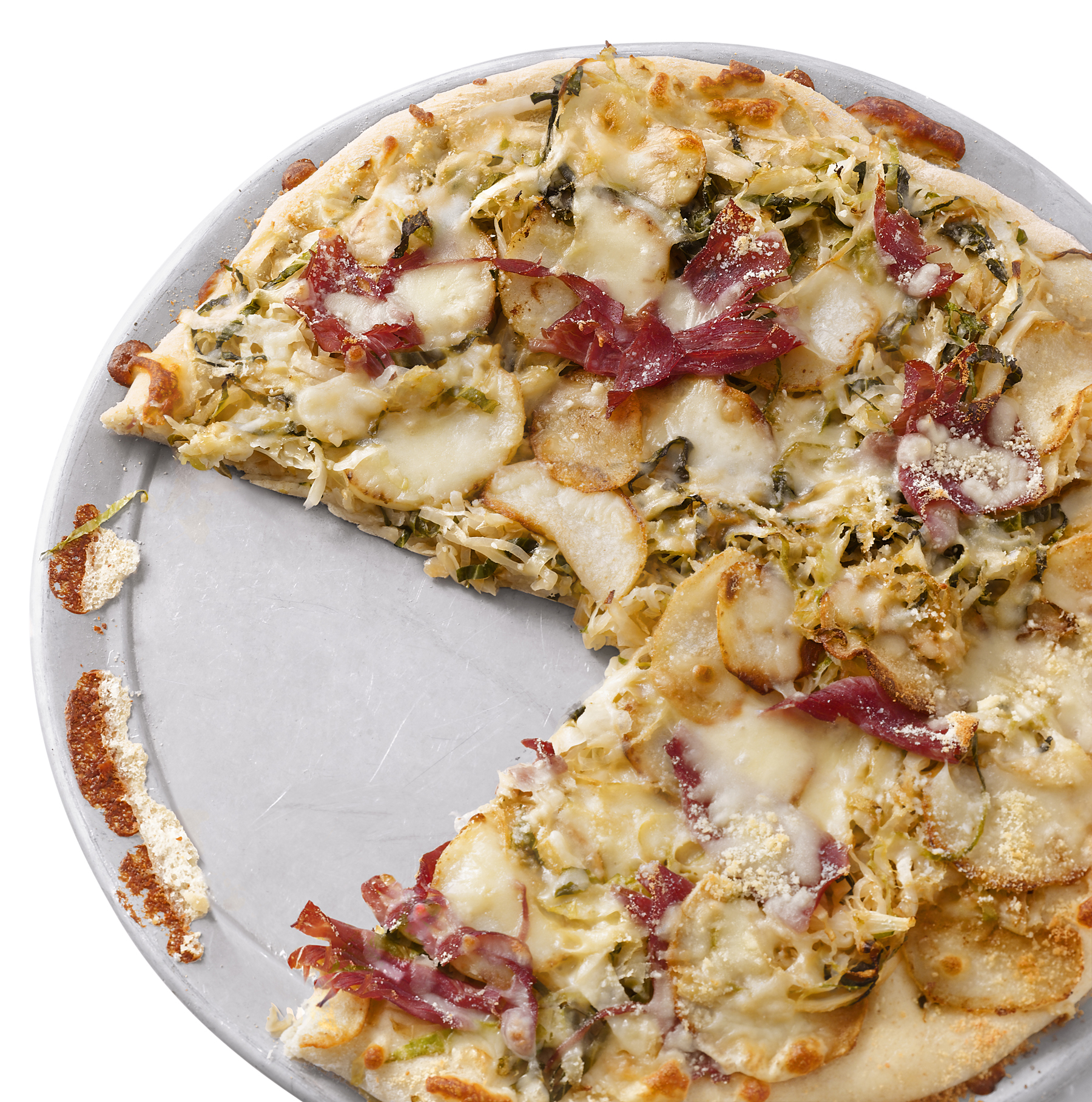 Corned-Beef-and-Cabbage Pizza