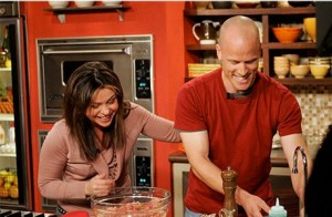Nathan Lyon with Rachael Ray